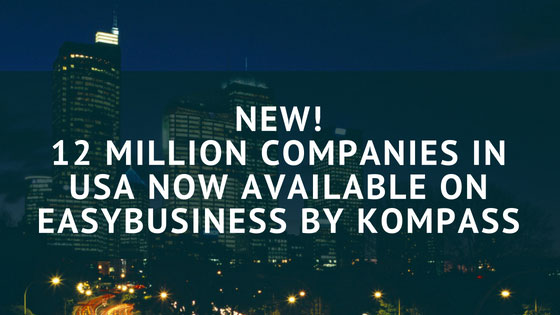 New: 12 million companies in USA now available on EasyBusiness by Kompass