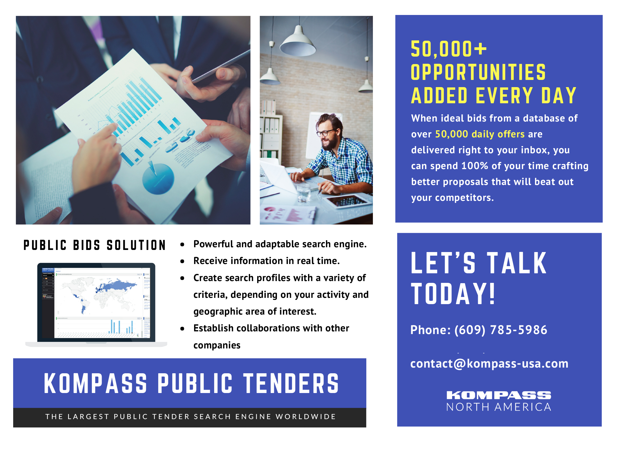 Kompass Public Tenders: The Largest Public Tenders Search Engine Worldwide