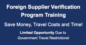 Due to COVID-19 Travel Restriction, FSVP Training will be Online