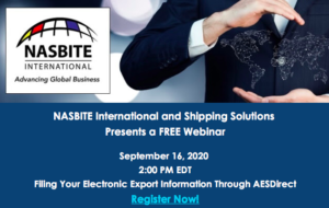 TOMORROW:Filing Your Electronic Export Information Through AESDirect Free Webinar
