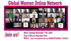 Global Chamber Global Women Online Networking Event